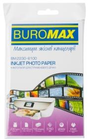Фотобумага глянцевая 10х15 см, 230 г/м2, 100 листов