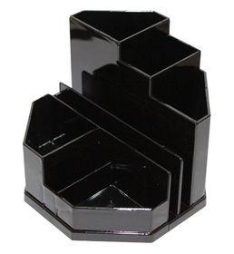Подставка для офисных принадлежностей пластиковая Спектр, черная