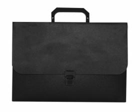 Пластиковый портфель Buromax JOBMAX A4, 1 отделение, черный