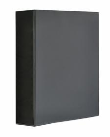 Папка Панорама на кольцах Panta Plast А4, 70 мм, 4D, PVC, черный