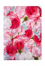 Папка-уголок Buromax ROMANCE А4,180 мкм, розовая