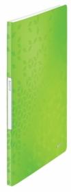 Папка с 20 файлами Leitz WOW А4, зеленый металлик