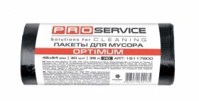 Пакеты для мусора PRO SERVICE OPTIMUM прочные 35 л, 30 шт, черные