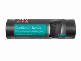 Пакеты для мусора PRO SERVICE Professional 160 л, 10 шт, черные
