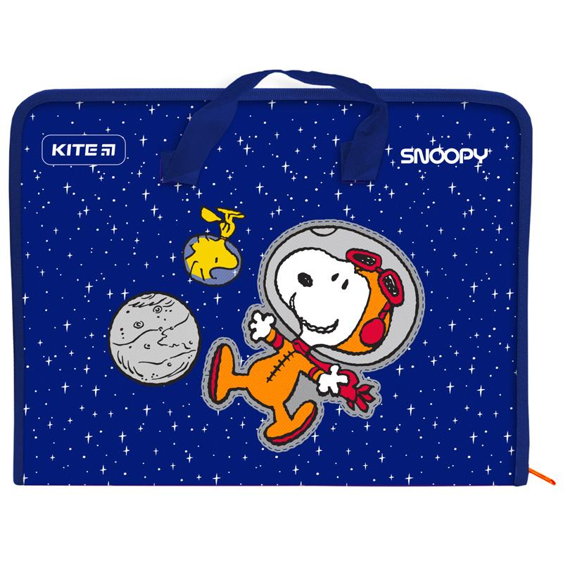 Пластиковый портфель KITE Peanuts Snoopy А4, 1 отделение