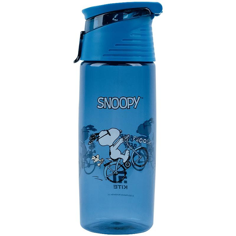 Бутылочка для воды КІТЕ Peanuts Snoopy 550 мл,голубая