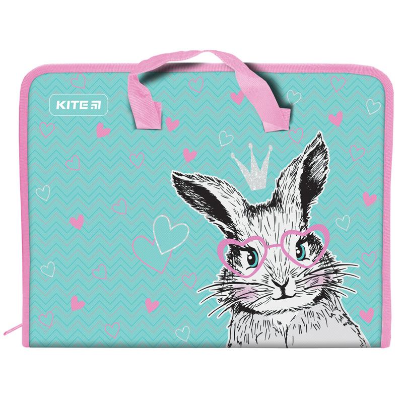 Пластиковый портфель KITE Cute Bunny А4, 1 отделение