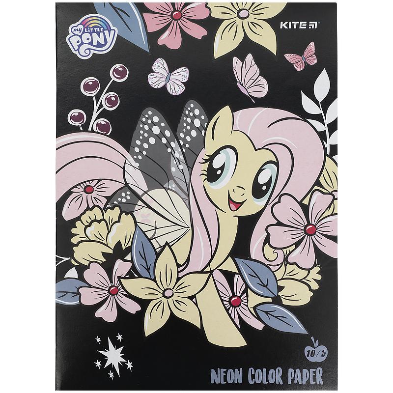 Бумага цветная двухсторонняя КІТЕ My Little Pony А4, 10 листов, 5 цветов