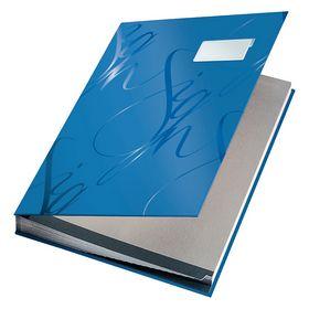 ПапканаподписьLeitz Design Signature Book, 18 разделителей, синяя