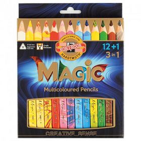Карандаши цветные Koh-i-Noor Magic, 12 цветов + блендер