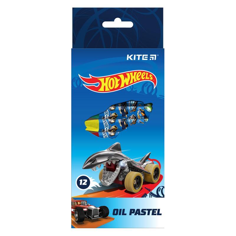 Пастельные мелки KITE Hot Wheels, 12 цветов