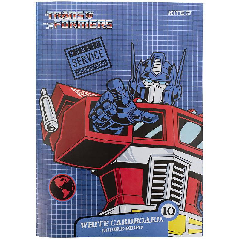 Картон белый KITE Transformers А4, 10 листов