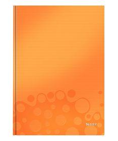 Блокнот Leitz WOW A4, 80 листов, клетка, оранжевый