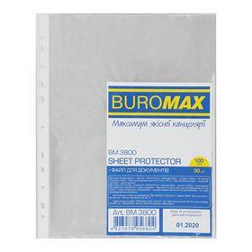Файл для документов Buromax А4+, 30 мкм, 100 шт