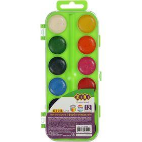 Краски акварельные ZiBi KIDS Line без кисти, 12  цветов