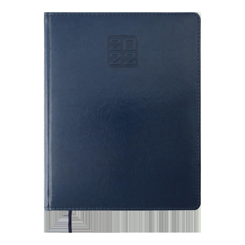 Еженедельник датированный 2022 BuromaxBRAVO(Soft),синий