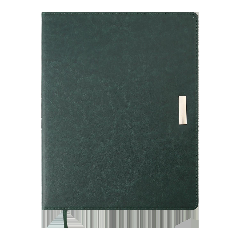 Ежедневник датированный 2022 Buromax SALERNO, зеленый