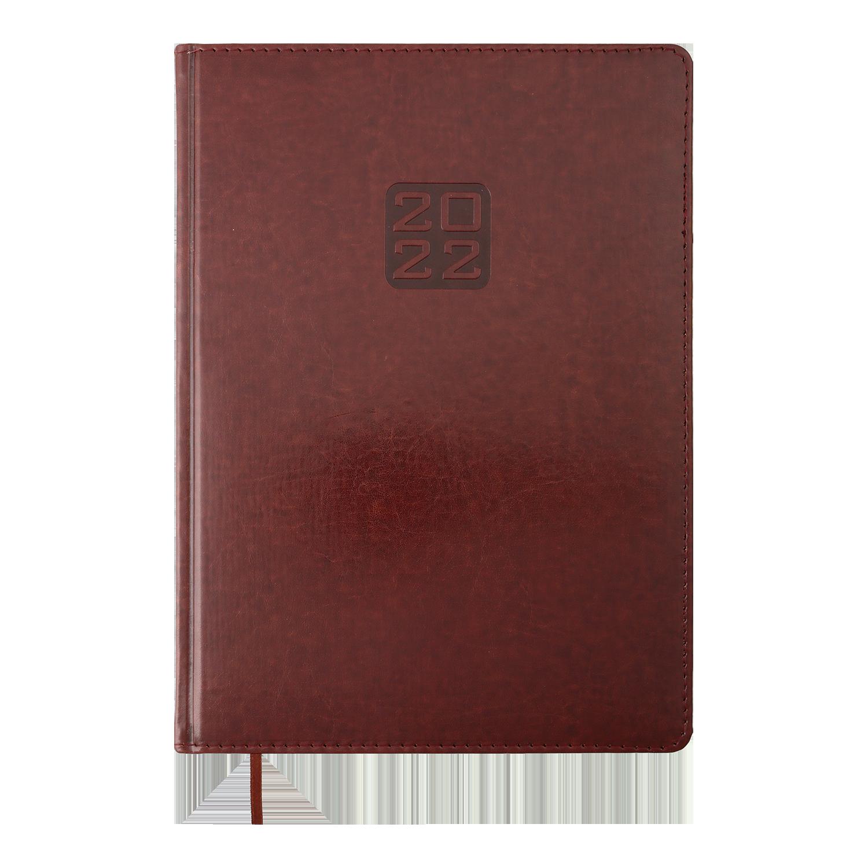 Ежедневник датированный 2022 BuromaxBRAVO (Soft),коричневый