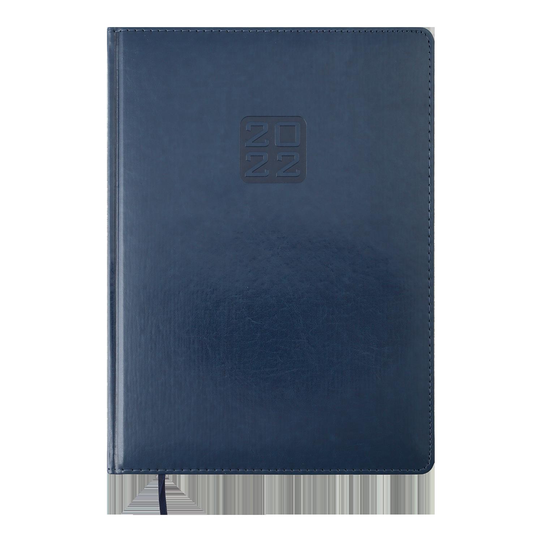 Ежедневник датированный 2022 BuromaxBRAVO (Soft),синий