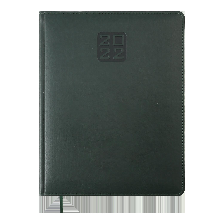 Еженедельник датированный 2022 BuromaxBRAVO(Soft),зеленый