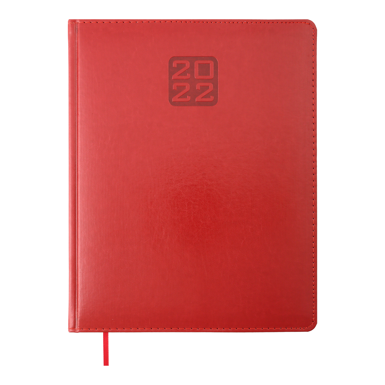 Еженедельник датированный 2022 BuromaxBRAVO(Soft), красный