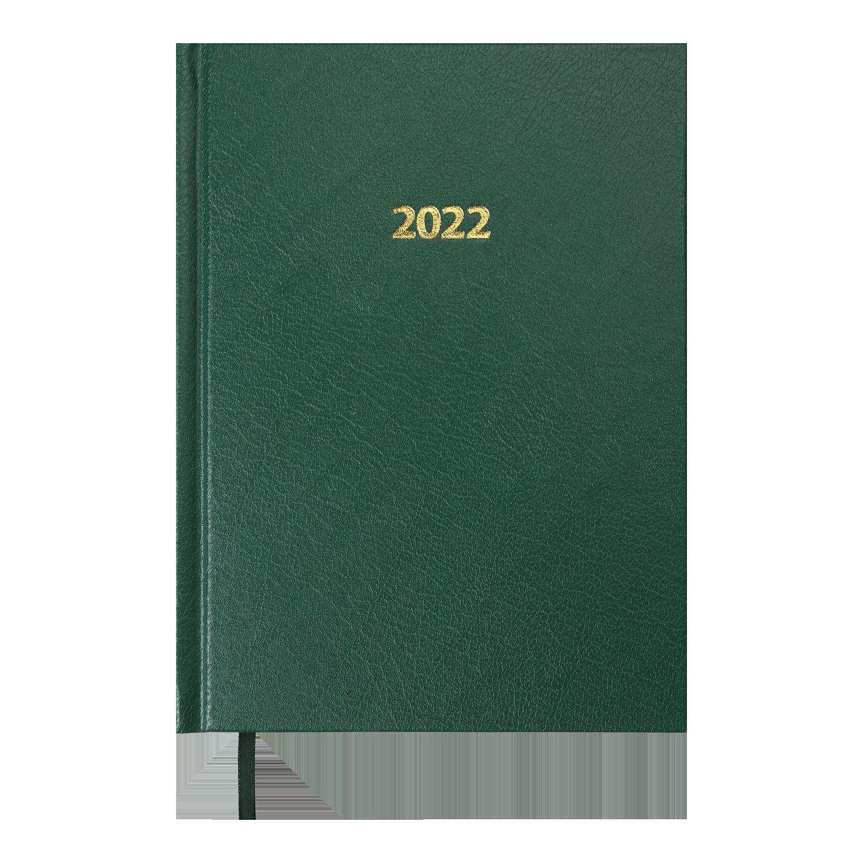 Ежедневник датированный 2022 Buromax STRONG, зеленый