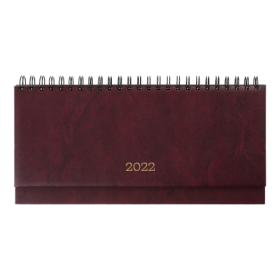 Планинг датированный 2022 BuromaxBASE,бордовый