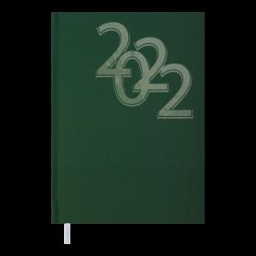 Ежедневник датированный 2022 BuromaxOFFICE,зеленый