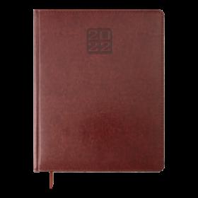 Еженедельник датированный 2021 BuromaxBRAVO(Soft),коричневый