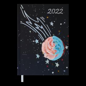 Ежедневник датированный 2022 BuromaxSWEET A5, фиолетовый