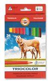 "Карандаши цветные Triocolor Jumbo ""Horses"", 24 цвета (3144)"