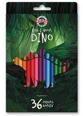 """Карандаши цветные """"Dino"""", 36 цветов (3595036007KS)"""