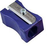 Точилка Металлик, пластиковый корпус, без контейнера, фиолетовая, полибэг (100-1/05 violet)