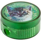 """Точилка круглая """"Cat"""", пластиковый корпус, контейнер, полибэг  (206K1 cat)"""