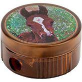 """Точилка круглая """"Horse"""", пластиковый корпус, контейнер, полибэг (206K1 horse)"""